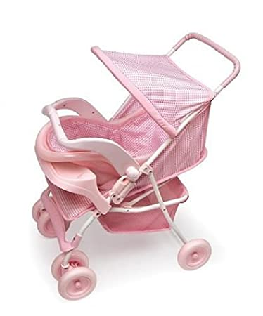Amazon Com Deluxe Doll Stroller With Car Seat Doll Accessories