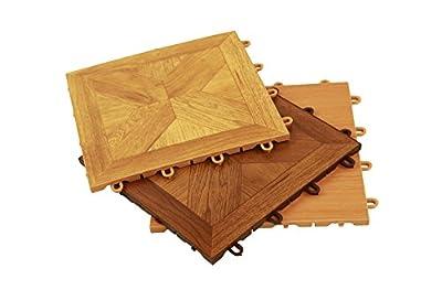 "IncStores Wood-Loc Flooring 12"" x 12"" Snap Together Floor Tiles"