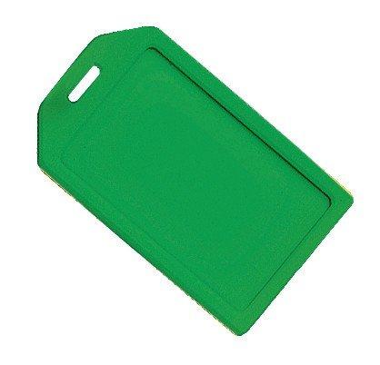 Rigid Luggage Tag (Green Rigid Plastic Luggage Tag Holder and included 6