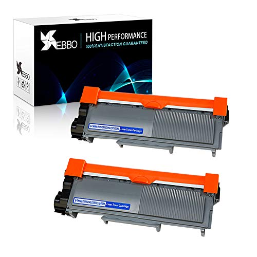 EBBO TN660 Compatible Toner Cartridge Replacement for Brother TN-660 TN-630 TN630 Toner, Work with Brother HL-L2340DW HL-L2380DW HL-L2300D MFC-L2700DW MFC-L2740DW DCP-L2540DW Printer (Black, 2-Pack)