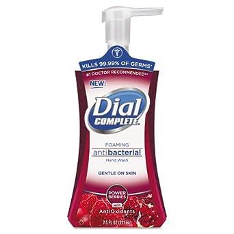 Dial Complete 03016 Power Berries Antiox Antibacterial Foaming Hand Wash, 7.5 oz, (Case of 8)