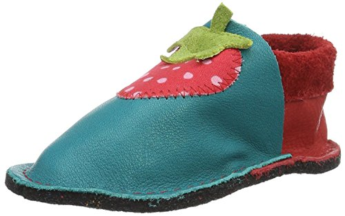 Pololo Unisex-Kinder Kiga Erdbeere Krabbel-& Hausschuhe, Rot (Berry Waikiki 2341), 24/25 EU