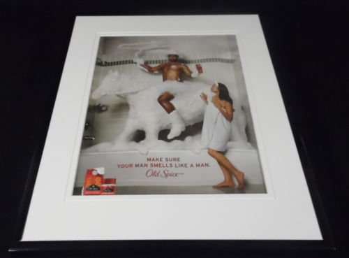 2010-old-spice-cowboy-in-shower-framed-11x14-original-vintage-advertisement