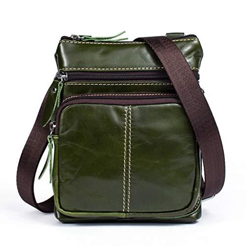 Casual 2 S Men's color Shoulder Size Retro Leather 12 Bag Messenger Business O8qYWv