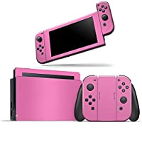 Skin Adesivo Protetor 4D Fibra de Carbono Nintendo Switch (Rosa)