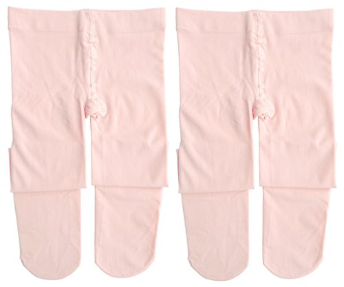 Dancina Footed Dance Tights Future Ballerina First Dance Class Lesson Soft Stockings S (3-5) Ballet Pink x2 (Ballerina Ballet Lessons)