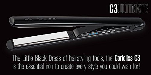 Corioliss C3 Ultimate Titanium Hair Styling Iron, Black , Professional Hair Straightener, Curl, Flick, Negative Ion Hair Care, Anti-Static Anti-Frizz, Travel pouch included 2 Year Warranty by Corioliss (Image #5)