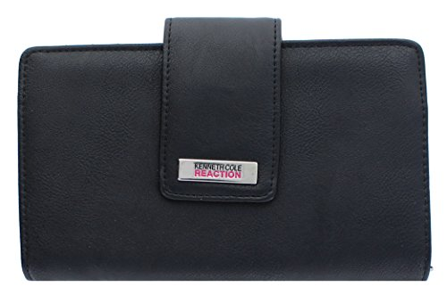 Kenneth Cole Reaction Women's Wallet Organizer (BUFF BLACK) (Wallet For Women Kenneth Cole)