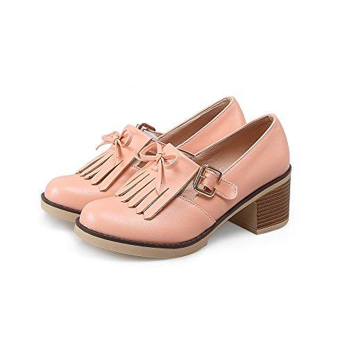 Per E Con heels Voguezone009 Fibbia A Tacco Pu In Solido Kitten Donna Coste 68TCq4Hw