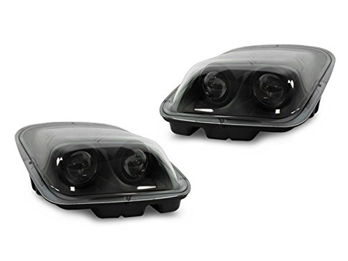 DEPO Black Clear Projector Headlights Fits 1997-2004 Chevy Chevrolet Corvette C5 - Chevy Corvette Projector Headlights