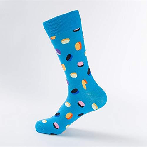 Mode Sikesong 5 Paires Crew Super Happy Chaussettes La Personnage Masculin D'automne Et Socks D'hiver Pill De Blue RFFwBpqYx