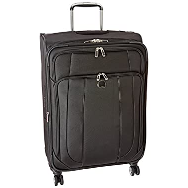 Delsey Luggage Helium Cruise 25 Inch EXP Spinner Suiter Trolley, Black, One Size
