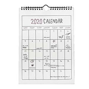 Rich-Hom 2019-2020 Calendario De Pared del Planificador De Hogar, Calendario De Escritorio Independiente para Planificador Familiar del Año Escolar, ...