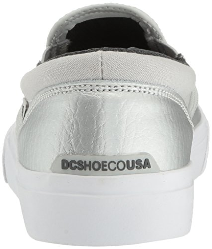 DC Women's Trase Slip-on SE Skateboarding Shoe, Silver, 8.5 B US by DC (Image #2)