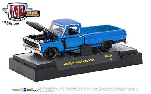 M2 Machines Auto-Mods Release AM06 1:64 1969 Ford F-100 Ranger Truck 17-48
