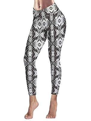 Women's Capris Printed Custom Leggings Lattice Pattern High Waist Yoga Running Workout Pants