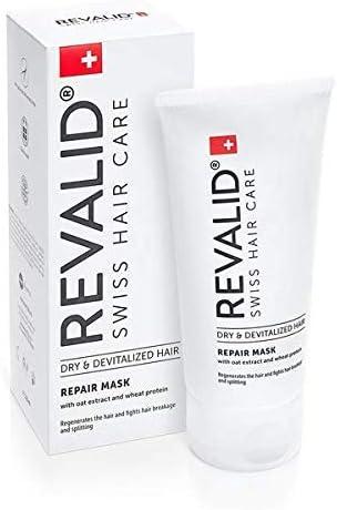 Reparación máscara intensiva tratamiento reparación dañado cabello con avena Extracto de trigo proteína alantoína y pantenol B5 150 ml hecho en Suiza