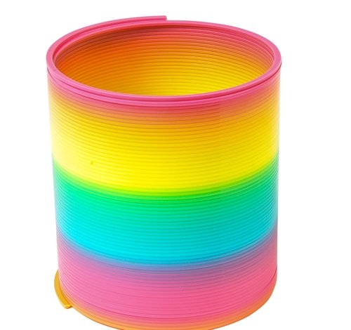 3.94'' RAINBOW COIL SPRING, Case of 72 by DollarItemDirect