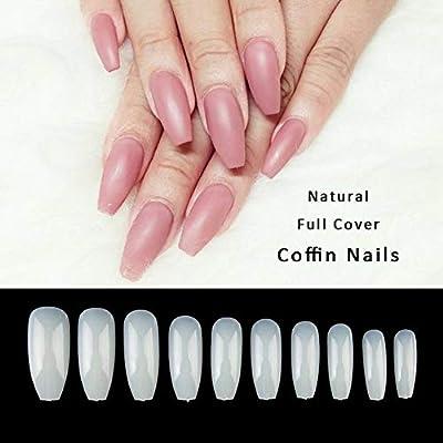Amazon.com: 500 uñas postizas acrílicas artificiales para ...