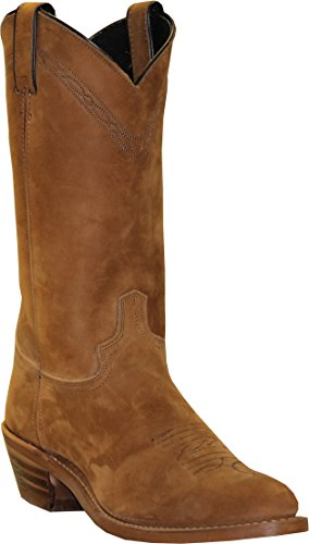 Abilene Men's 12-Inch Cowhide Leather Round Toe Pull On C...