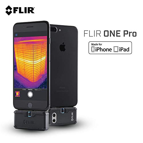 FLIR ONE Pro – iOS – Professional Grade Thermal Camera for Smartphones – with VividIR and MSX Image Enhancement…