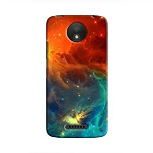 Cover It Up - Blue Vs Red space Cloud Moto C Plus Hard case