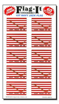 (First Navy Jack - Historical Stickers (60 Pack))