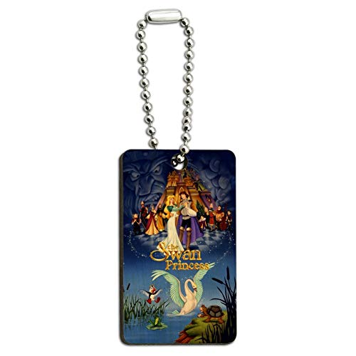 - The Swan Princess Movie Poster Art Wood Wooden Rectangle Keychain Key Ring
