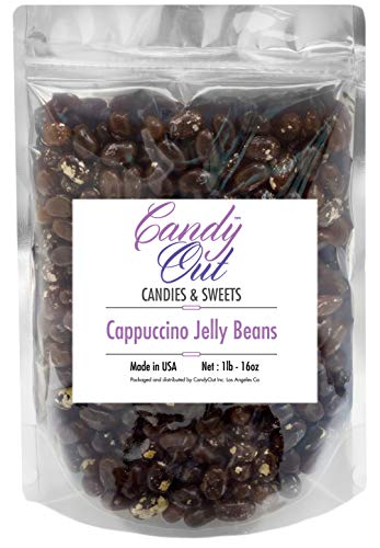 (CandyOut Cappuccino Jelly Beans 1 Pound in Resealable Stand Up Bag)