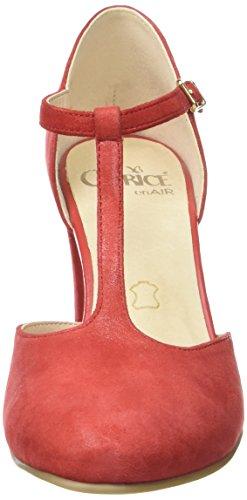 Caprice 24400, Sandalias con Cuña para Mujer Rojo (Red Suede)