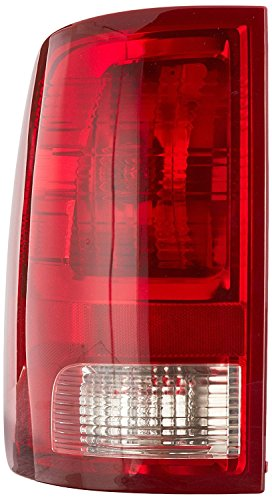 (Dependable Direct Left Driver Side Tail Light Lens & Housing for 2009-2017 Dodge Ram 1500 and 2010-2017 RAM 2500, 3500 CH2818124)