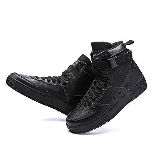 Scarpe piatte scarpe sportive Scarpe da corsa Scarpe da passeggio Scarpe da uomo traspirante Assorbimento degli urti High-top Sport allaria aperta Usura antiscivolo , Black , UK 7.5 / EU 41