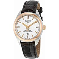 Tissot PR 100 COSC Brown Leather Silver Dial Women's Watch