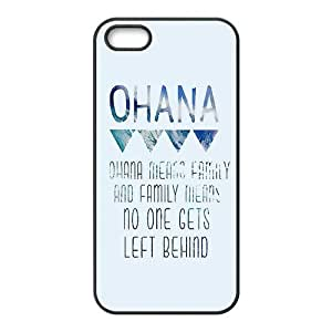 Case for iPhone 5s,Cover for iPhone 5s,Case for iPhone 5,Hard Case for iPhone 5s,Lilo & Stitch Ohana Design TPU Hard Case for Apple iPhone 5 5S