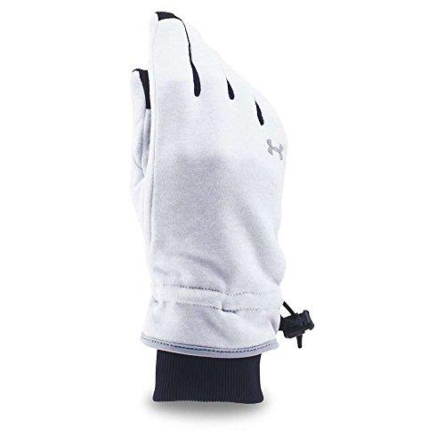 (Under Armour Women's UA Elements Fleece Glove Air Force Gray Heather/Silver Gloves)