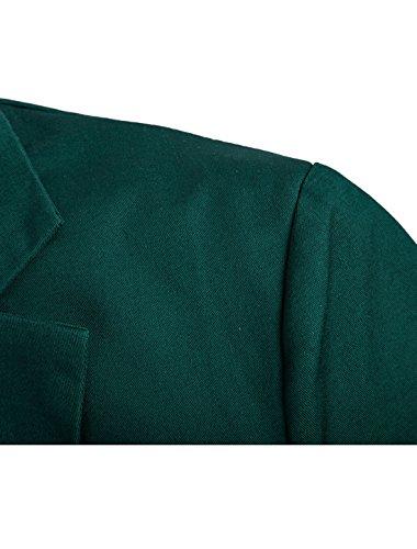 Di Dark Prima Bottone Retro Giacca Qualità K Allegra vent Green Un Bavero Uomo Centro w7qfvTEU