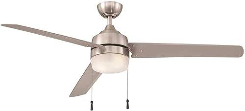 Carrington 60 in. Brushed Nickel Ceiling Fan indoor/outdoor