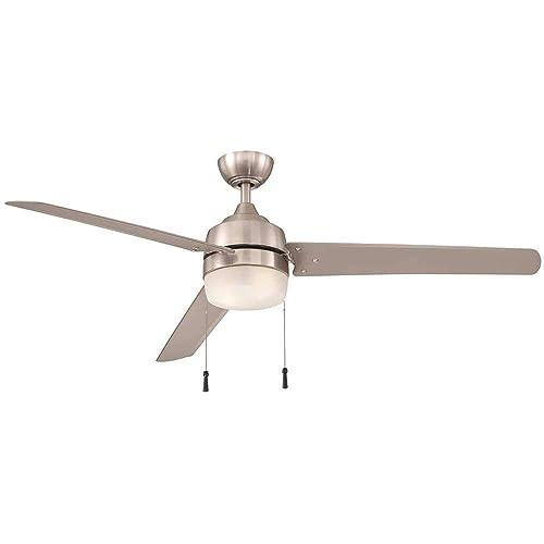 Carrington 60 in. Brushed Nickel Ceiling Fan indoor outdoor