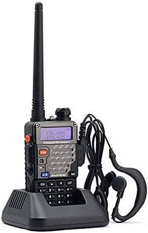 BaoFeng UV-5R UV5R Plus Dual-Band 136-174 400-480 MHz FM Ham Two-Way Radio 2pcs Black