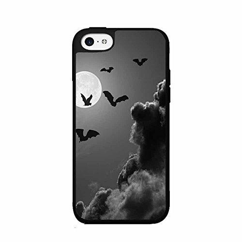 BleuReign(TM) Bats on Dark Sky Background Plastic Phone Case Back Cover iPhone 5 5s and iPhone SE -