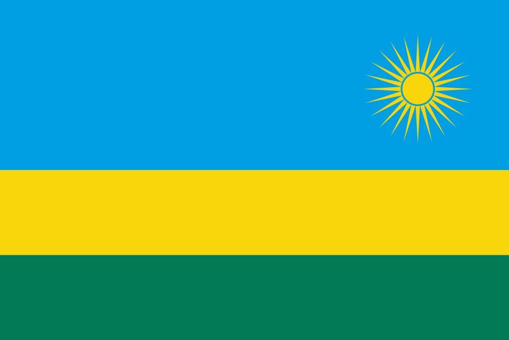 太田旗店 ルワンダ 国旗 地球にやさしい外国旗 (90×135cm) B079YZQ7P8 90×135cm  90×135cm