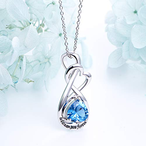 YinShan I Love You Forever Heart Necklace Jewelry Sterling Silver Pendant by YinShan (Image #2)