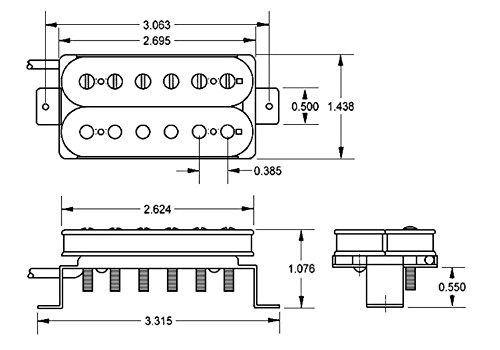 black Seymour Duncan SH-1N 2C 59 Model neck position//2-wire