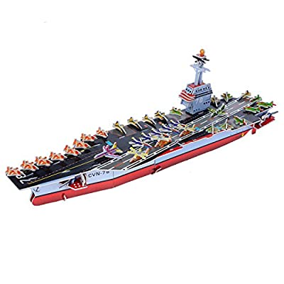 3D Military Model Kids DIY Toys USS Ford Aircraft Carrier 3D Jigsaw Puzzle-98 Pieces