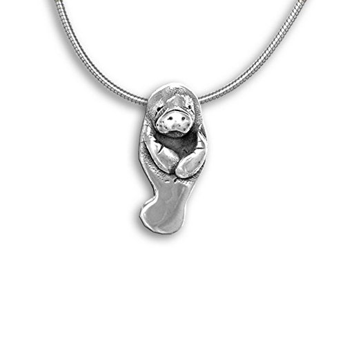 Sterling Silver Manatee Large Pendant by The Magic ()