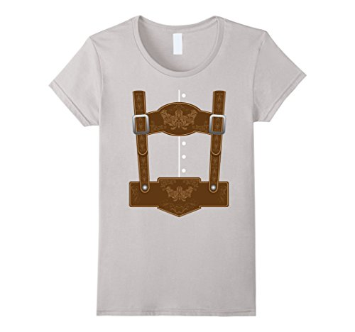 Womens Oktoberfest Lederhosen T-Shirt - Funny German Bavarian Shirt XL (Oktoberfest Outfits For Women)