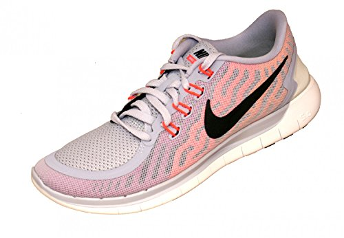 NikeNike Free 5.0 - Scarpe Running Donna, Multicolore (Mehrfarbig (Weiß/Rosa/Schwarz)), 42.5 EU