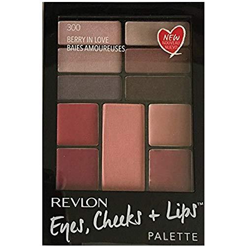 (Revlon Eyes Cheeks + Lips Palette, 300 Berry in Love, (Pack of 2) )