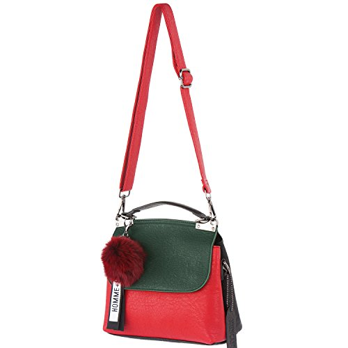 Hobo Genuine Red Handbag Muncaso Bag Green Crossbody Bag Satchel Ladies Women Leather wpXX5x4Rq