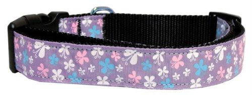 Mirage Pet Products Butterfly Nylon Ribbon Collar, X-Small, Lavender